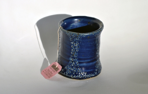 little blue cup
